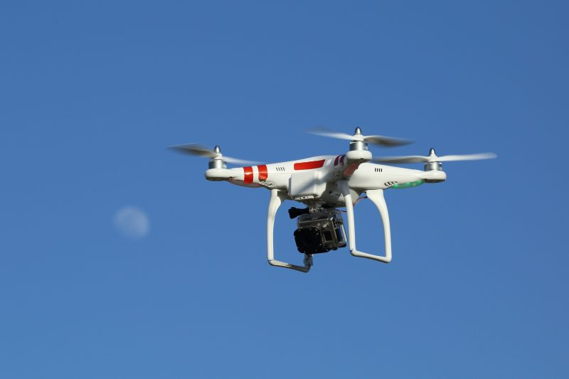 Drone flying with GoPro camera
